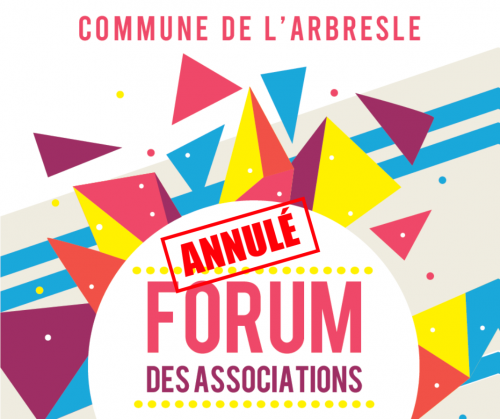 ANNULATION du Forum des Associations 2020 de L'Arbresle